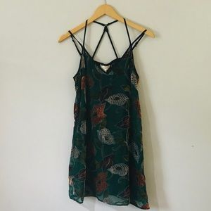 Anthropologie Band of Gypsies Floral Velvet Dress